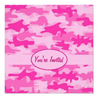 De roze en Fuchsiakleurig Gebeurtenis van de 13,3x13,3 Vierkante Uitnodiging Kaart