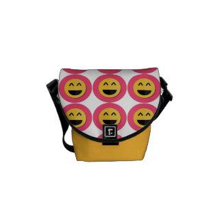 De roze en Gele Zak van de Boodschapper van de Courier Bag