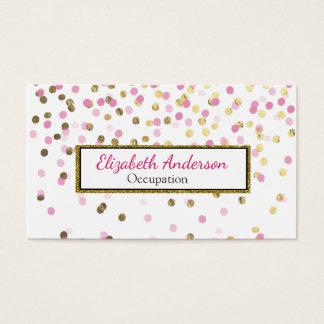 De roze en Gouden Confettien van de Folie Visitekaartjes