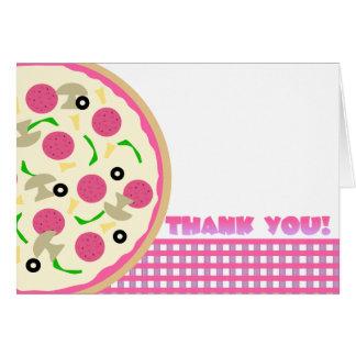 De roze en Paarse Partij van de Pizza dankt u nota Kaart