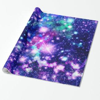 De roze en Paarse Sterren van de Melkweg Inpakpapier