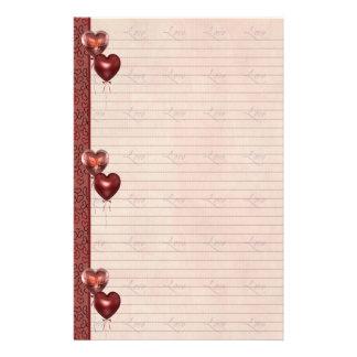 De roze en Rode Bladen van de Nota van de Liefde v Briefpapier