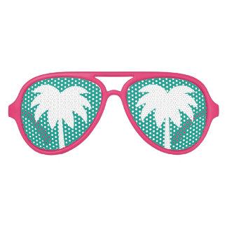 De roze en turkooise blauwe schaduwen van de aviator zonnebril
