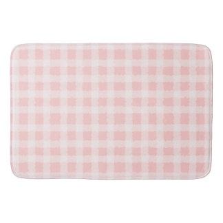 De roze en Witte Badmat van de Gingang