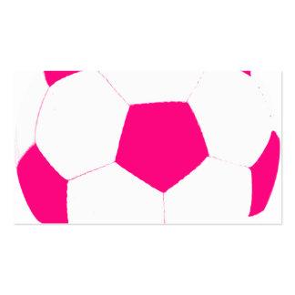 Roze voetbal visitekaartjes - Sterke witte werpen en de bal ...