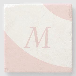 De roze en Witte Brief van het Monogram van het Stenen Onderzetter