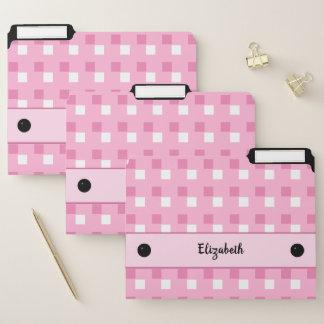 De roze en witte vierkanten van de naam documentenmappen