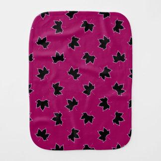 De roze en zwarte Doek van de Oprisping Spuugdoekjes
