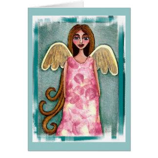 De roze Engel van de Hydrangea hortensia - volks Kaart