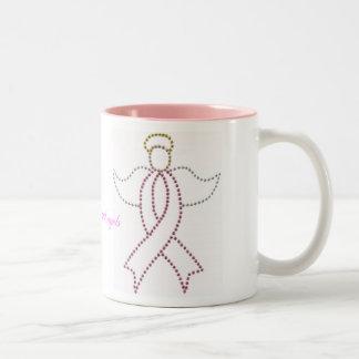 De roze Engel van het Lint Tweekleurige Koffiemok