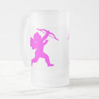 De roze Engel van het Meisje berijpte 16 de oz Matglas Bierpul