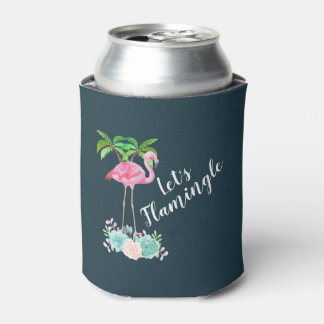 De roze Flamingo & de Palmen laten we Flamingle Blikjeskoeler