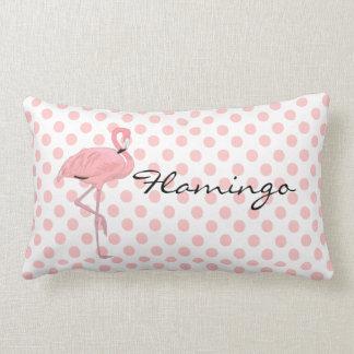 De roze Flamingo en de Stippen werpen Hoofdkussen Lumbar Kussen