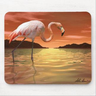 De Roze Flamingo Mousepad van Florida Muismatten