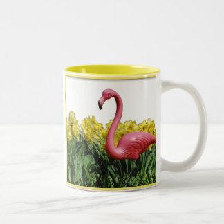 De roze Flamingo, toont me uw tuin en ik zal… Tweekleurige Koffiemok