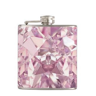 De roze Fles van de Diamant Heupfles