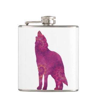 De roze Fles van de Wolf Heupfles