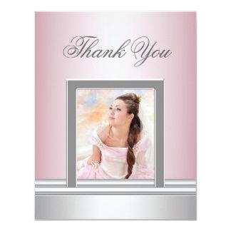 De roze Foto dankt u kaardt RSVP Voor alle 10,8x13,9 Uitnodiging Kaart