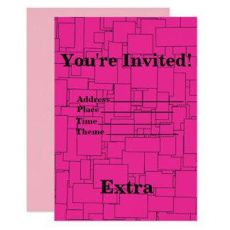De roze Geregelde Uitnodiging van de Verjaardag