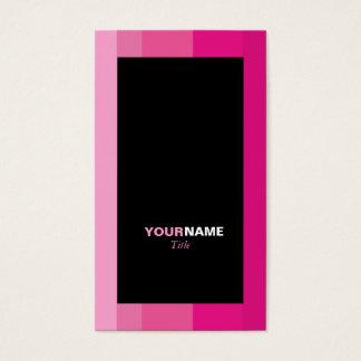 De Roze Gestreepte Gradiënt van Groupon Visitekaartjes