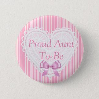 De roze Gestreepte Sjofele Elegante Knoop van het Ronde Button 5,7 Cm