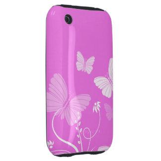 De roze geval-Partner van vlindersiPhone 3G/3GS Tough iPhone 3 Hoesjes