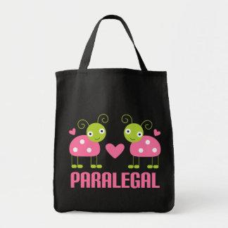 De roze Gift van Paralegal van het Lieveheersbeest Draagtas