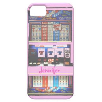De roze Gokker van het Casino van de Gokautomaat Barely There iPhone 5 Hoesje