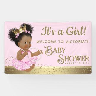 De roze Gouden Banners van het Baby shower van de