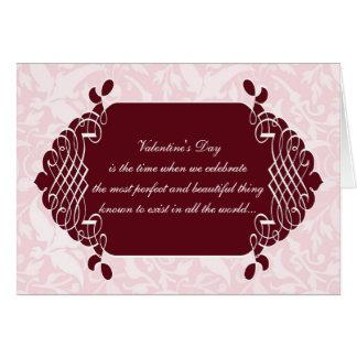 De roze Grappige anti-Valentijnse Kaart van het
