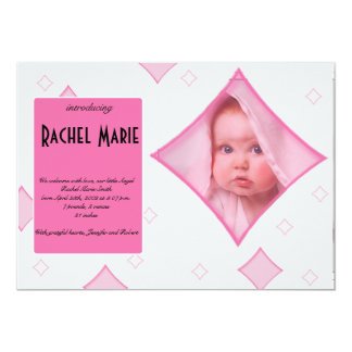 De roze Grijze Diamant ontwerpt de Aankondiging