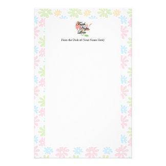De roze/Groene BloemenLiefde van de Hoop van het Briefpapier