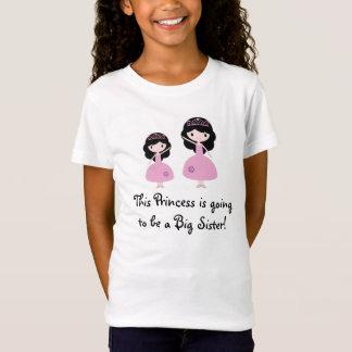 De roze Grote Zuster van de Prinses - Zwart Haar T Shirt