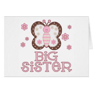 De roze Grote Zuster van de Vlinder Kaart
