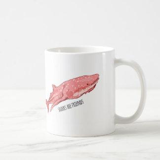 De roze Haai van de Walvis Koffiemok