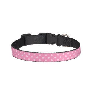 De roze Halsband van de Stip Huisdier Halsbandje