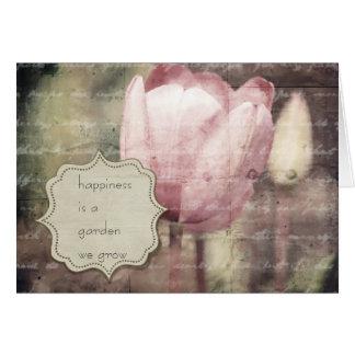 De roze Inspiratie van de Tulp Briefkaarten 0