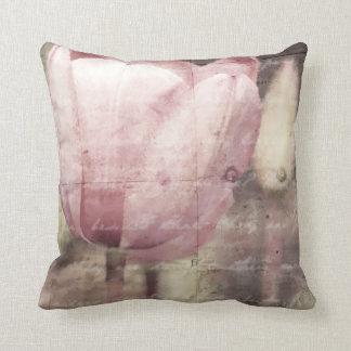 De roze Inspiratie van de Tulp Sierkussen