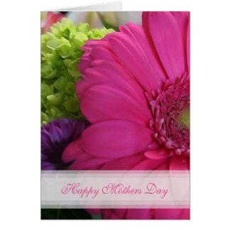 De roze Kaart van de Moederdag van Daisy Happy