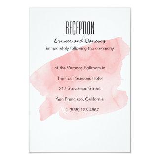 De roze Kaart van de Ontvangst van het Huwelijk