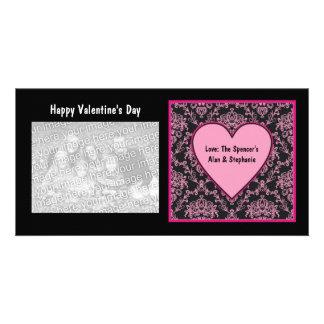 De roze Kaarten van de Foto van Valentijn van het Fotokaart Sjabloon