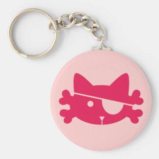 De roze Kat van de Piraat - Keychain Sleutelhanger