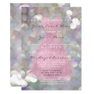 De roze Kleding nam Violette Grijze Munt zestiende Kaart
