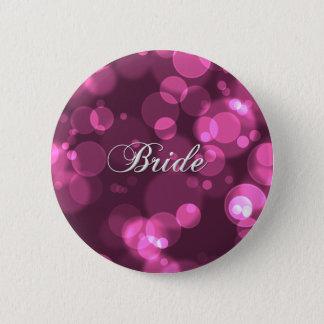 [De roze] Knoop van de Bruid van de Partij van de Ronde Button 5,7 Cm