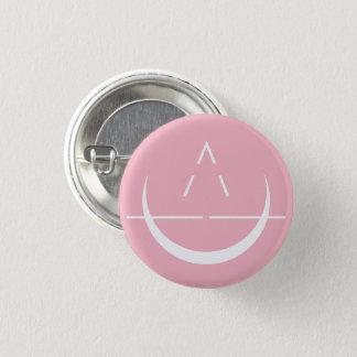 De Roze Knoop van het Symbool van de Maan ELOSIN Ronde Button 3,2 Cm