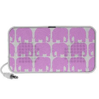 De roze Krabbel van het Silhouet van Olifanten Reis Luidsprekers