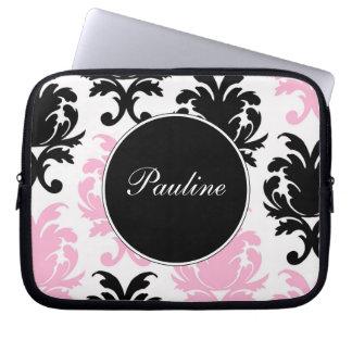 De roze Laptop Sleeves van het Monogram