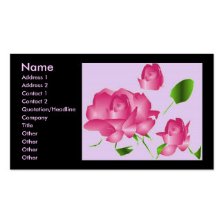 """De """"roze Lavendel nam Bloemist I"""" Profiel toe Visitekaart Sjablonen"""