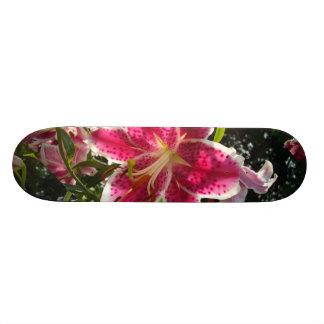 De roze lelies van de Dag 18,1 Cm Old School Skateboard Deck