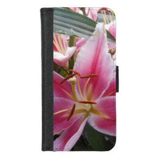 De roze Lelies van de Tijger iPhone 8/7 Portemonnee Hoesje